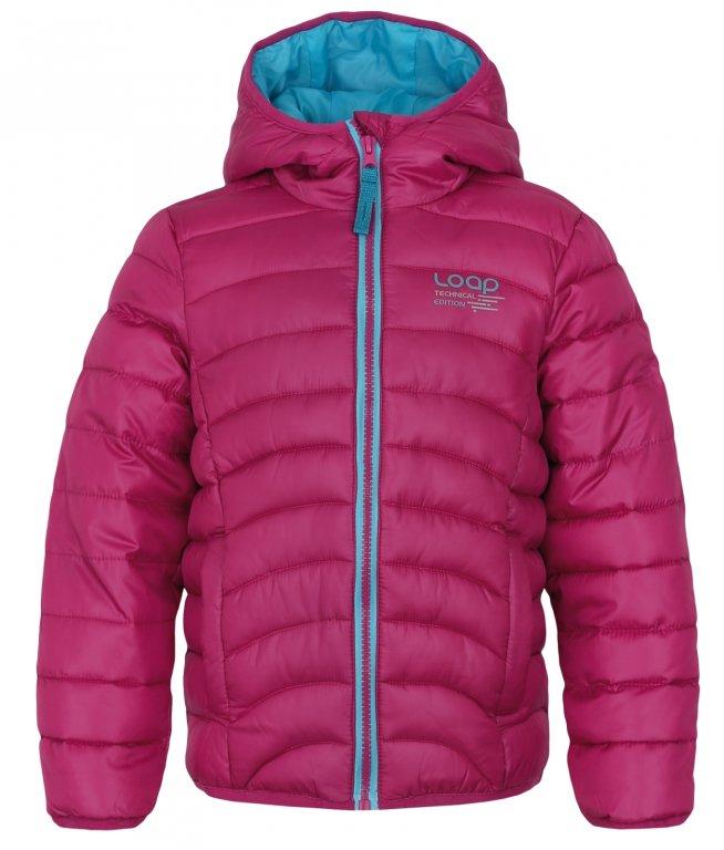 Dívčí zimní bunda Loap tmavě růžová