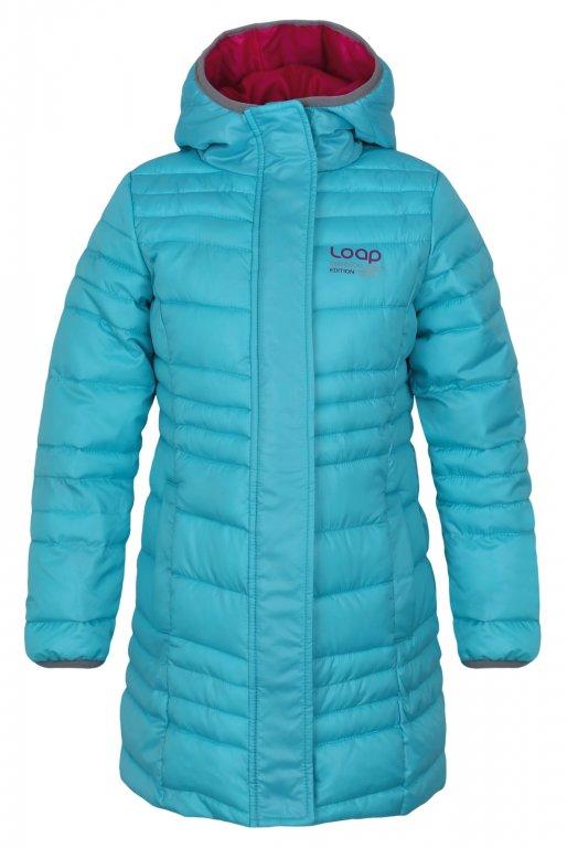 Zimní kabát Loap světle modrý 152