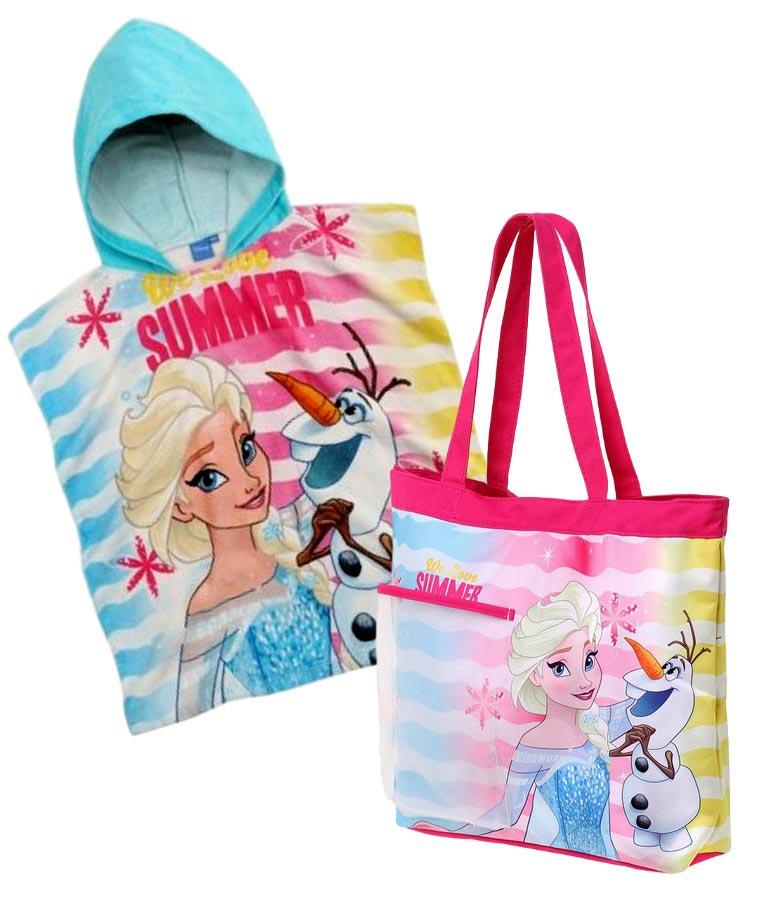 Pončo + plážová taška Frozen Ledové království