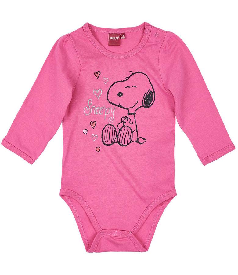 Dívčí body Snoopy vel. 86 tmavě růžové 86