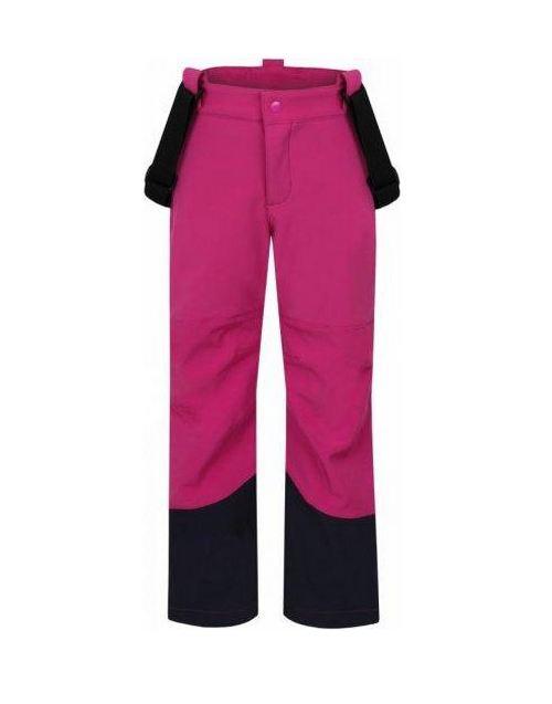 Dívčí softshellové kalhoty Loap Cyrda tmavě růžové 128