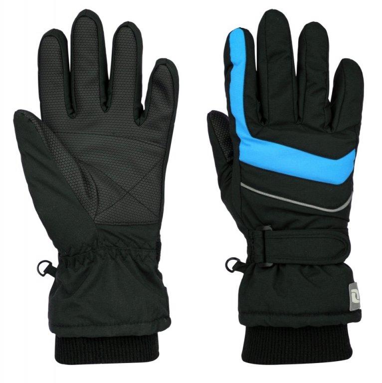 Dětské rukavice Loap Ninos vel. 140 (označeno 10) černé s modrou 140