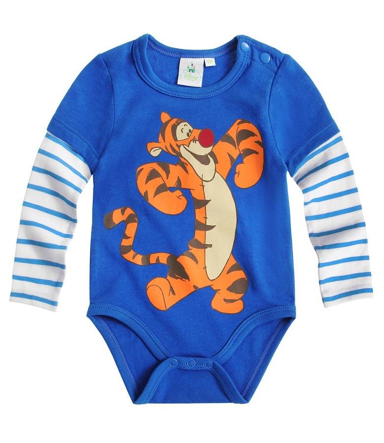 Dětské body Disney vel. 68 modré s tygříkem 68