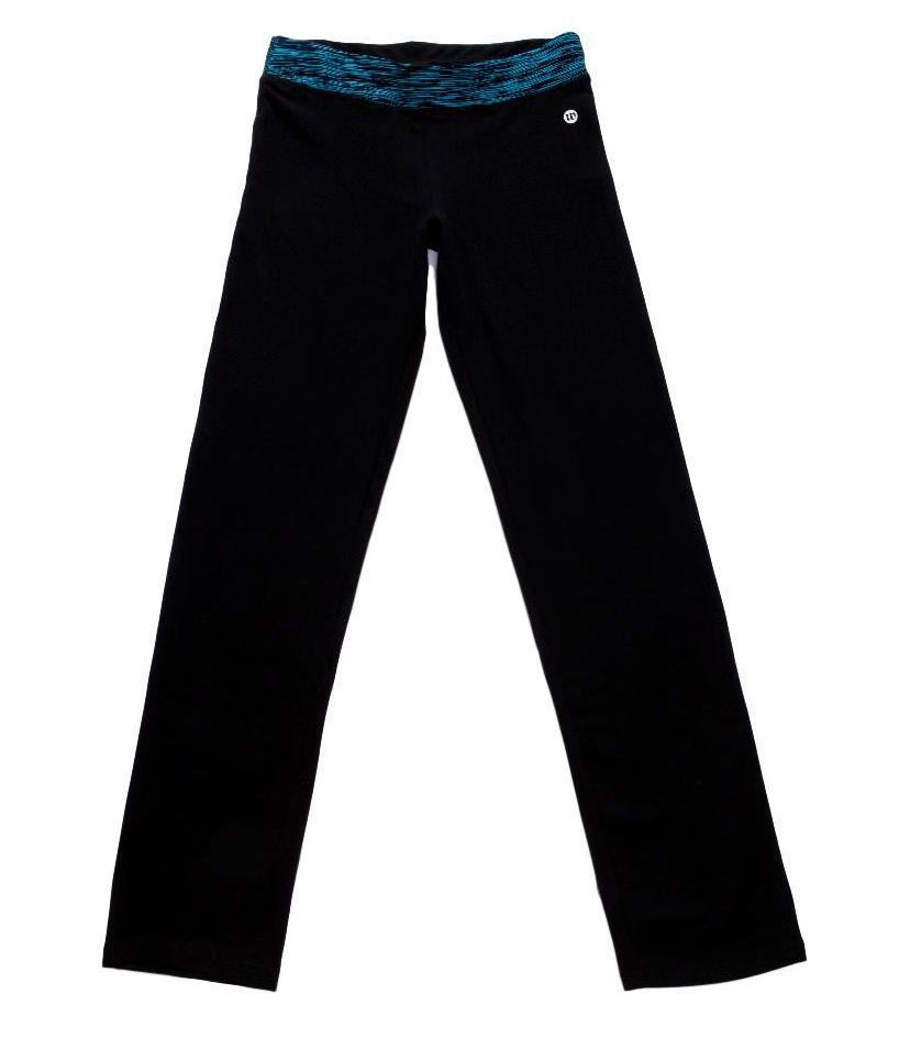 Dámské tepláky Wolf s elastanem T2871 černé s modrým pasem S