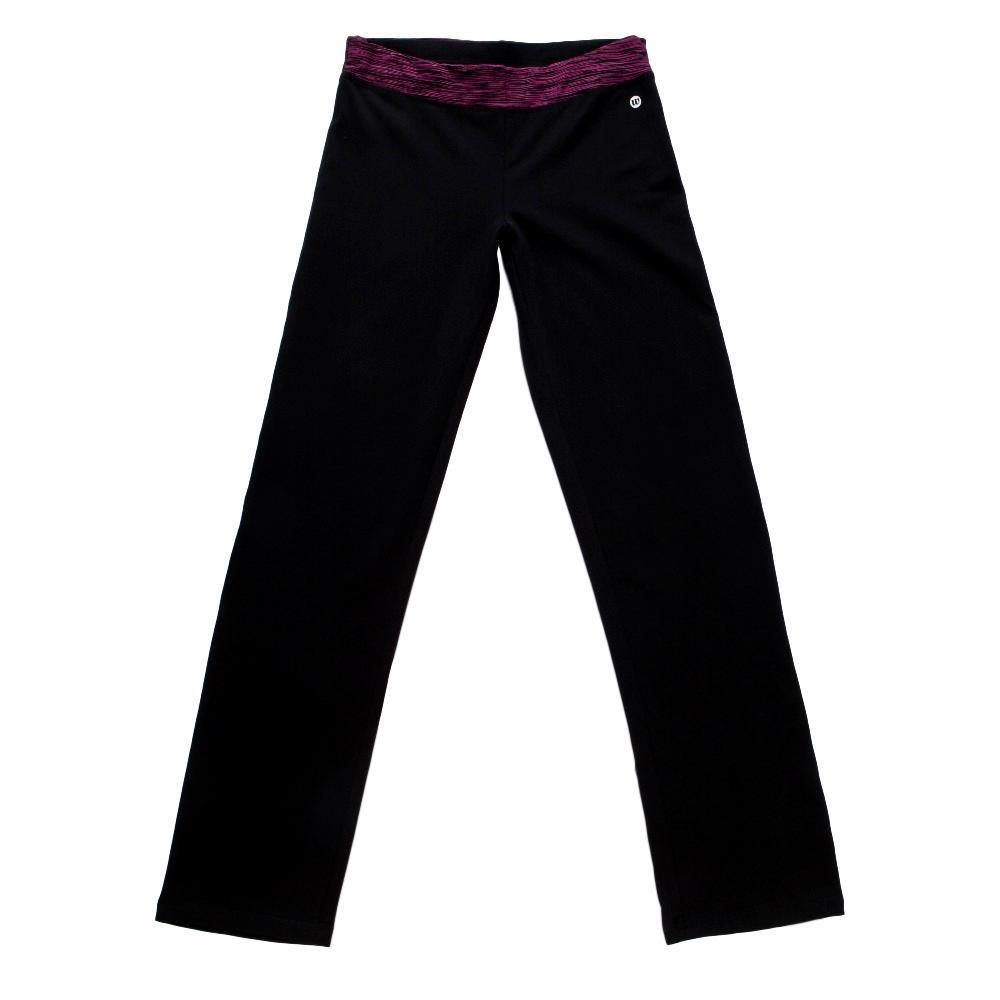Dámské tepláky Wolf s elastanem T2871 černé s fialovým XL
