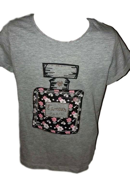 Dívčí tričko Primark šedá 164
