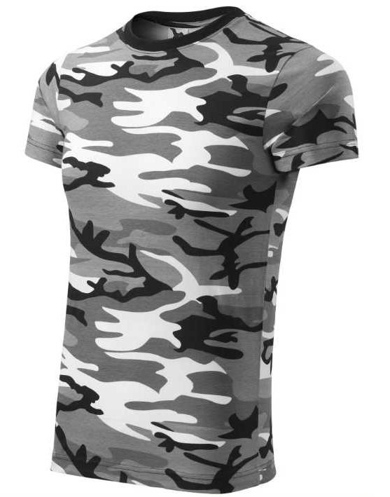 Pánské tričko Adler šedý maskáč šedá XS