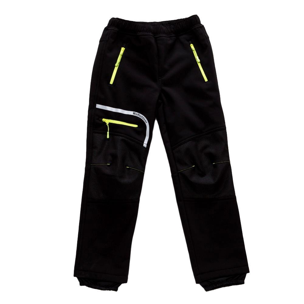 Chlapecké softshellové kalhoty Wolf B2894 s fleecem černá 146