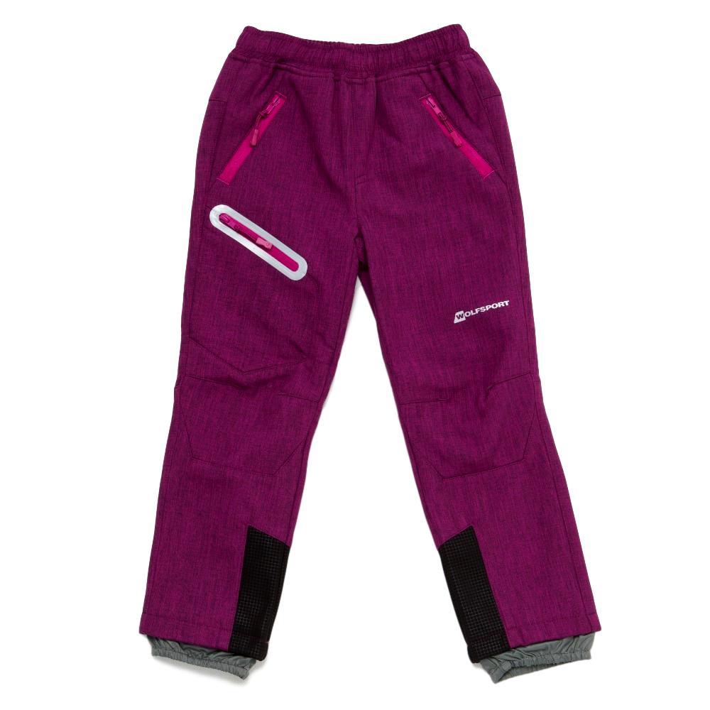 Dívčí softshellové kalhoty Wolf B2896 s fleecem fialová 116