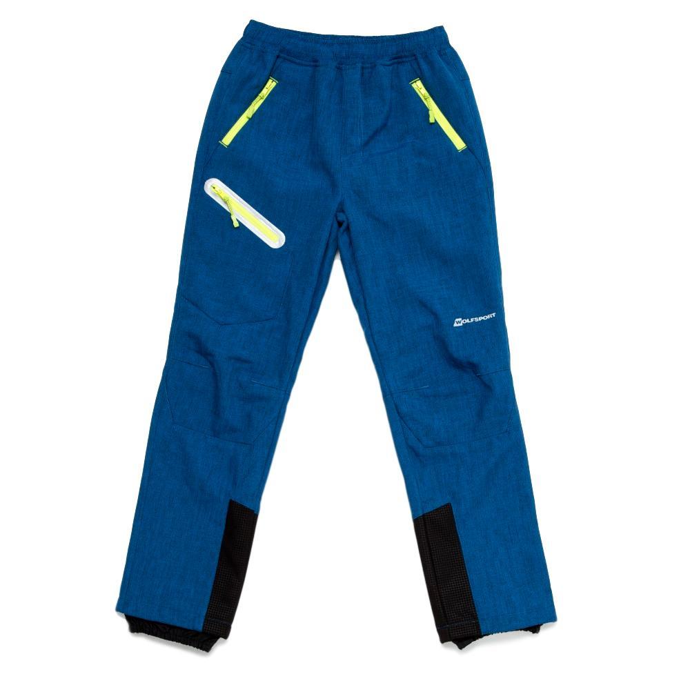 Dětské softshellové kalhoty Wolf B2896 s fleecem modrá 116
