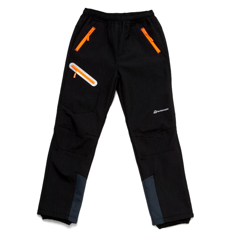 Dětské softshellové kalhoty Wolf B2896 s fleecem černá 116