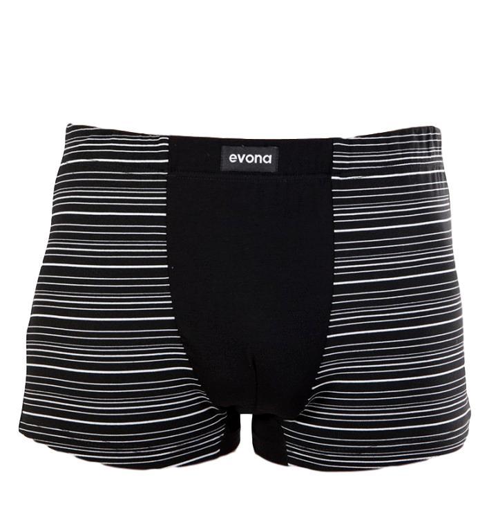Pánské boxerky Evona 1177 černé vzor 01 černá L