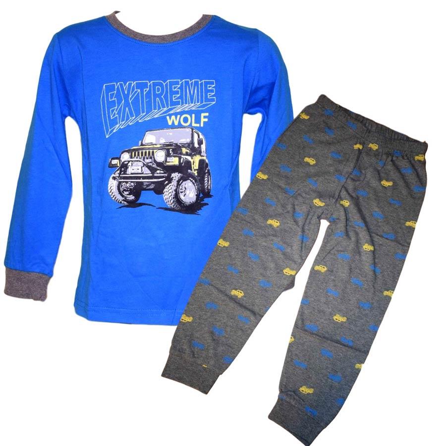 595b91f1451 Chlapecké pyžamo Wolf S2855C modré modrá 122