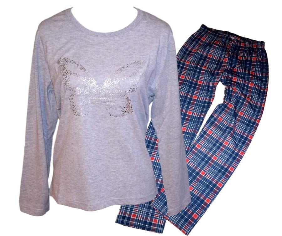 c1f76211440a Dámské pyžamo Wolf D2844 šedé s modrou šedá XXL