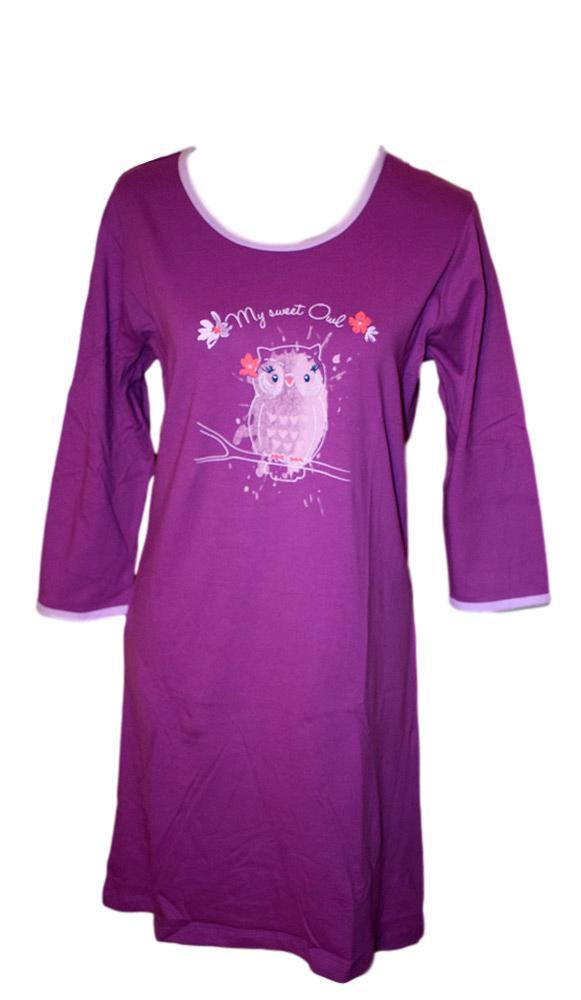 Dámská noční košile Wolf D2842 fialová fialová M