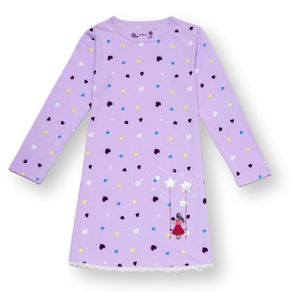 Dívčí noční košile Wolf S2883 fialová fialová 104